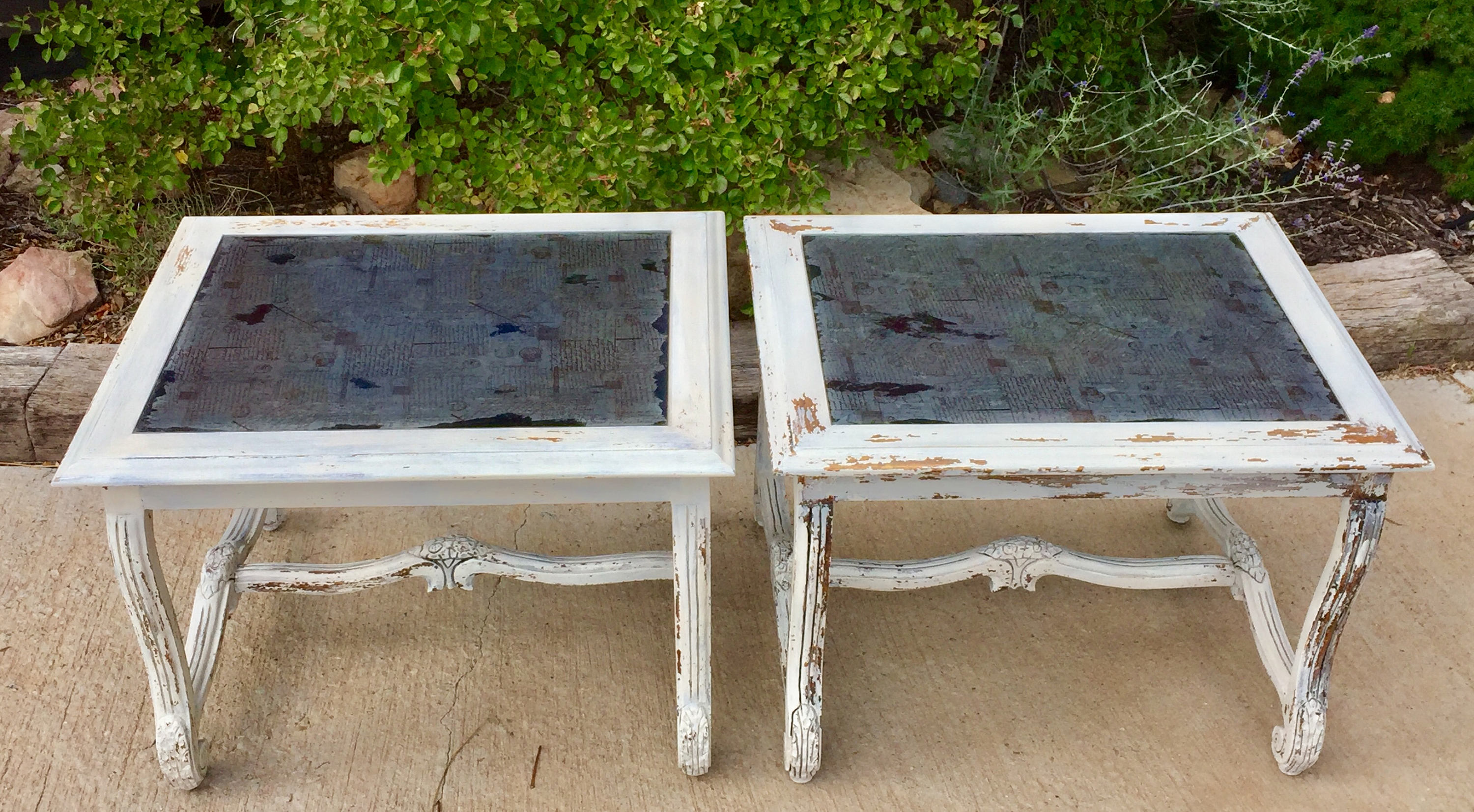 set french country end tables farmhouse nightstands etsy fullxfull accent table wood glass and metal coffee tall thin floor inch high entryway with storage baskets raw kitchen
