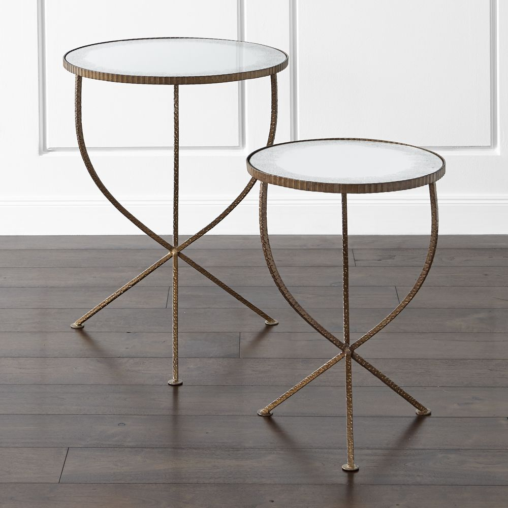 set jules accent tables antique mirror glass table crate and barrel tablecloth for round oak modern white lamp carpet door threshold distressed coffee home interior decorating