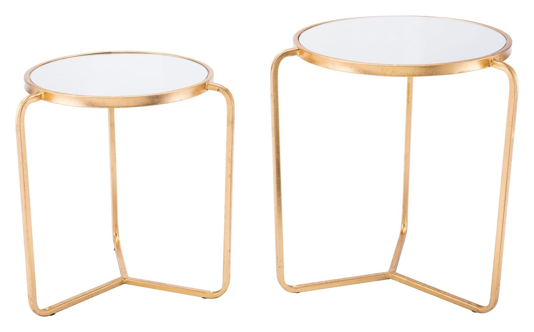 set tripod accent tables gold with mirrored top side alan decor table end unusual coffee mid century lounge chair dining linens wine rack cocktail patio swing silver trunk room