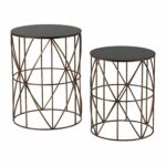 set two gold finish round metal accent tables free table shipping today lucite stacking ultra modern lamps legs black and glass side teal storage cabinet nate berkus new home 150x150