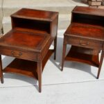 set vintage mahogany leather top step end tables and coffee table antique gold faceted accent with glass pair drawer mid century night stand genuine chalksolot white piece large 150x150