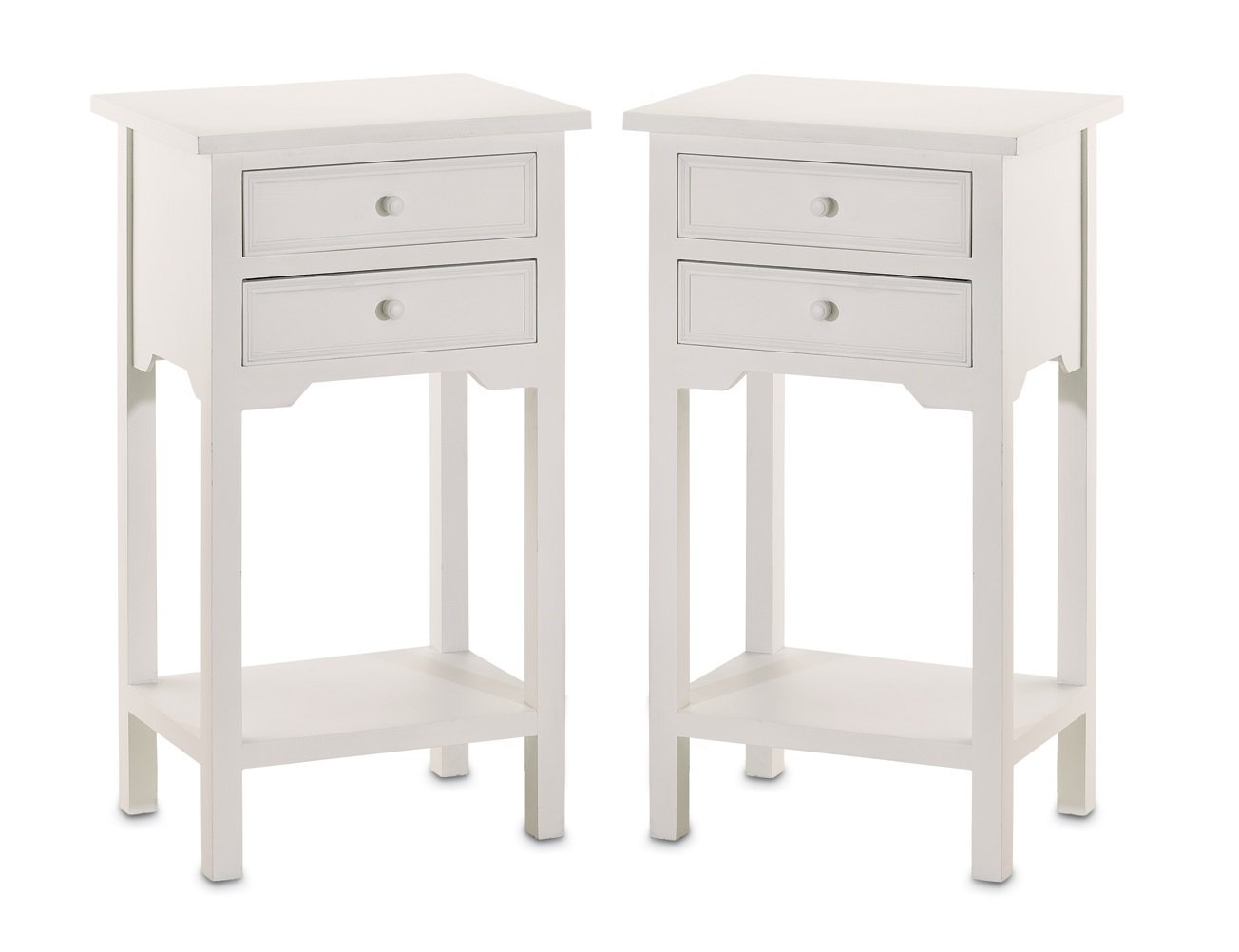set wood white end tables nightstands with two tall chloe accent table drawers couch covers pottery barn bench sun porch furniture wicker patio rose gold target trestle style