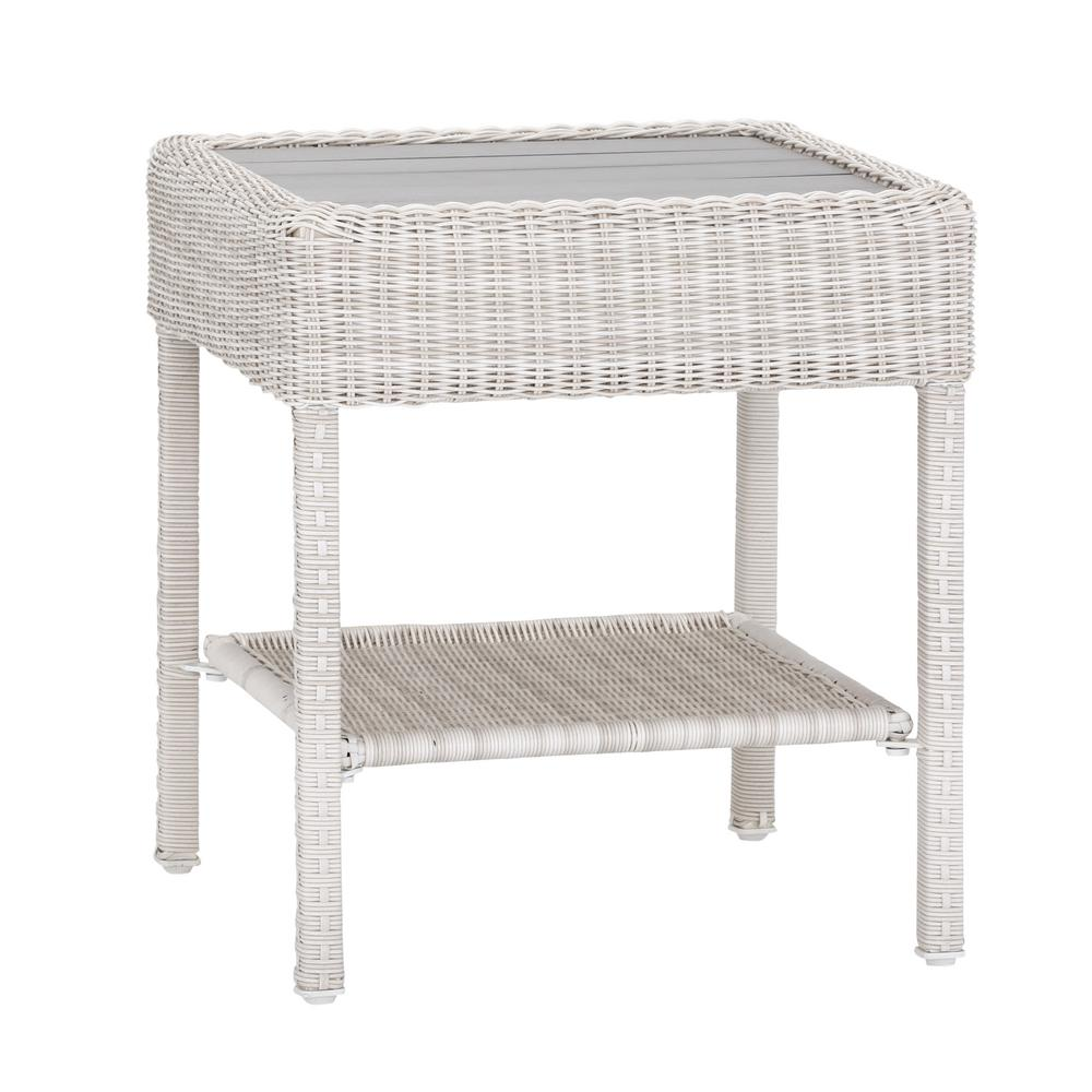 shabby white wicker accent table occasional side glass homesullivan calamar walnut mid century elephant drop leaf dining set drum corner ikea lighting portland mosaic ashley