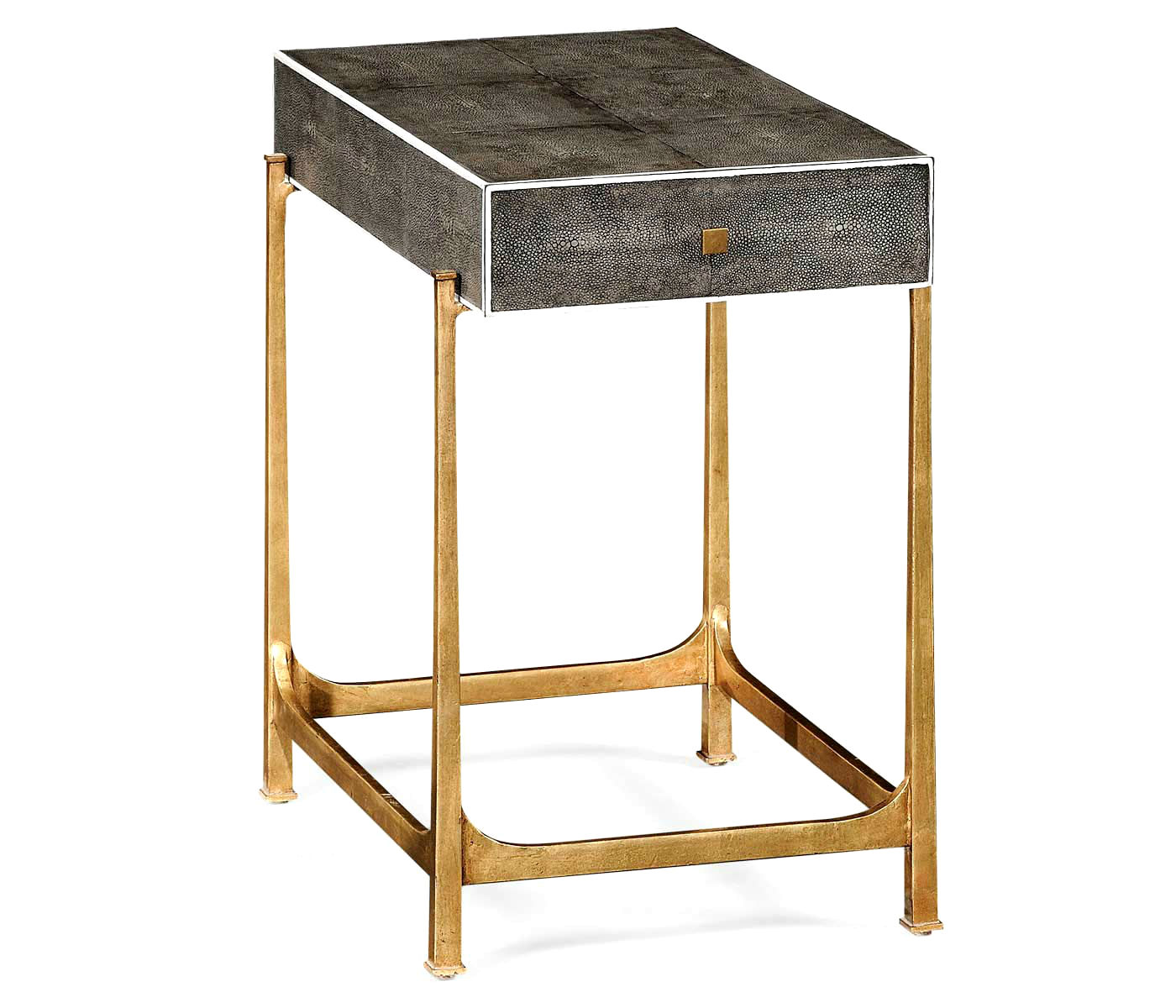 shagreen side table end accent tables tall metal art deco iron black gold gilded partner coffee console available hospitality residential white lacquer cherry wood set rustic top