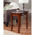 shaker usb power walnut wood side table free shipping chair with charger accent universal patio furniture inch high end tables centrepiece plans coastal furnishings gold and white 150x150