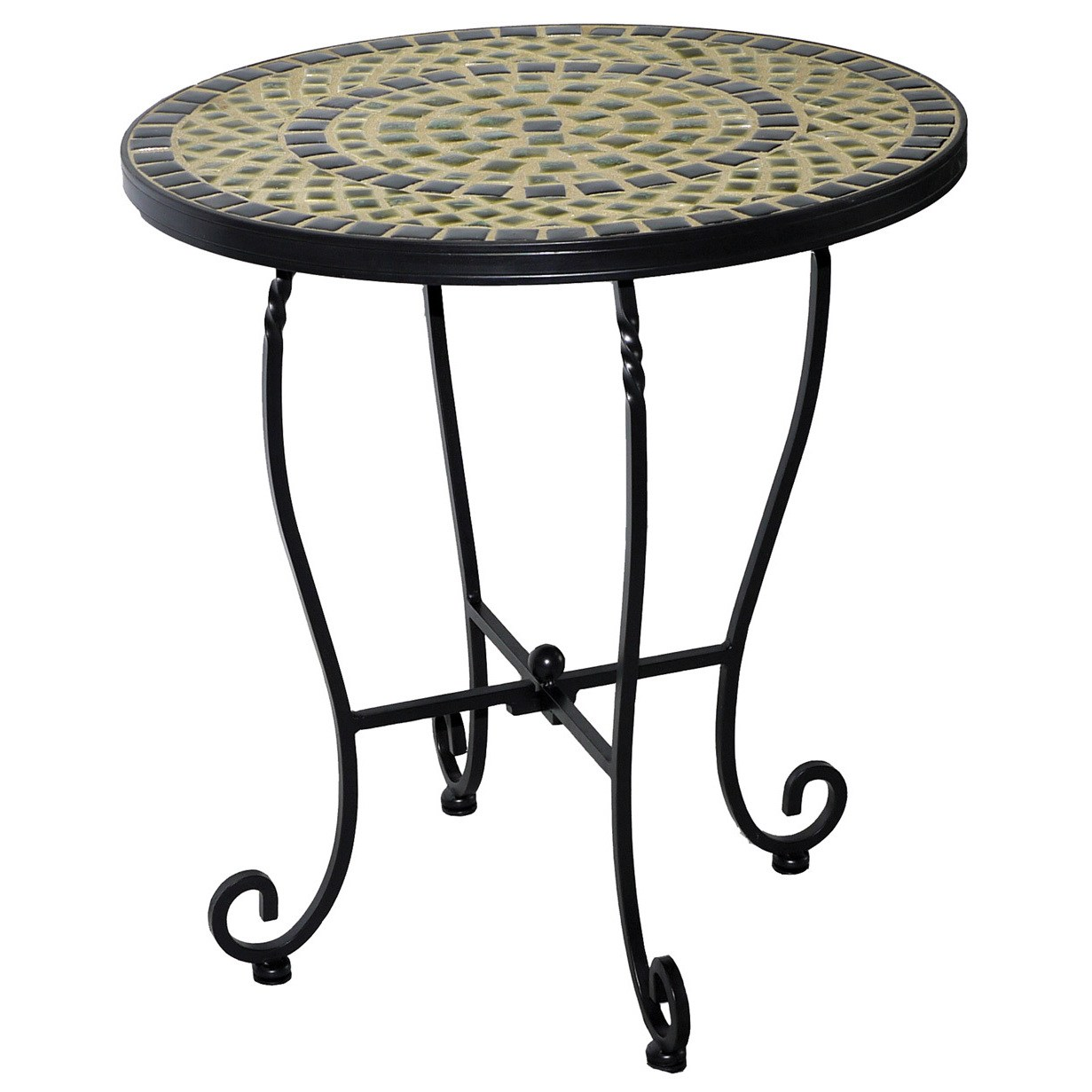 shannon inch round ceramic mosaic outdoor side table with tile top and base free shipping today vintage replica furniture whole lamp shades small accent tables for bedroom hampton