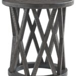 sharzane grayish brown round end table tables zane accent reclaimed wood furniture distressed gray charging station hall console target nightstand verizon ellipsis rectangular 150x150