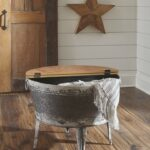shellmond two tone accent cocktail table between chairs tall kitchen bar checkered tablecloth gas grills inch lamp farmhouse dining side with baskets distressed room furniture big 150x150