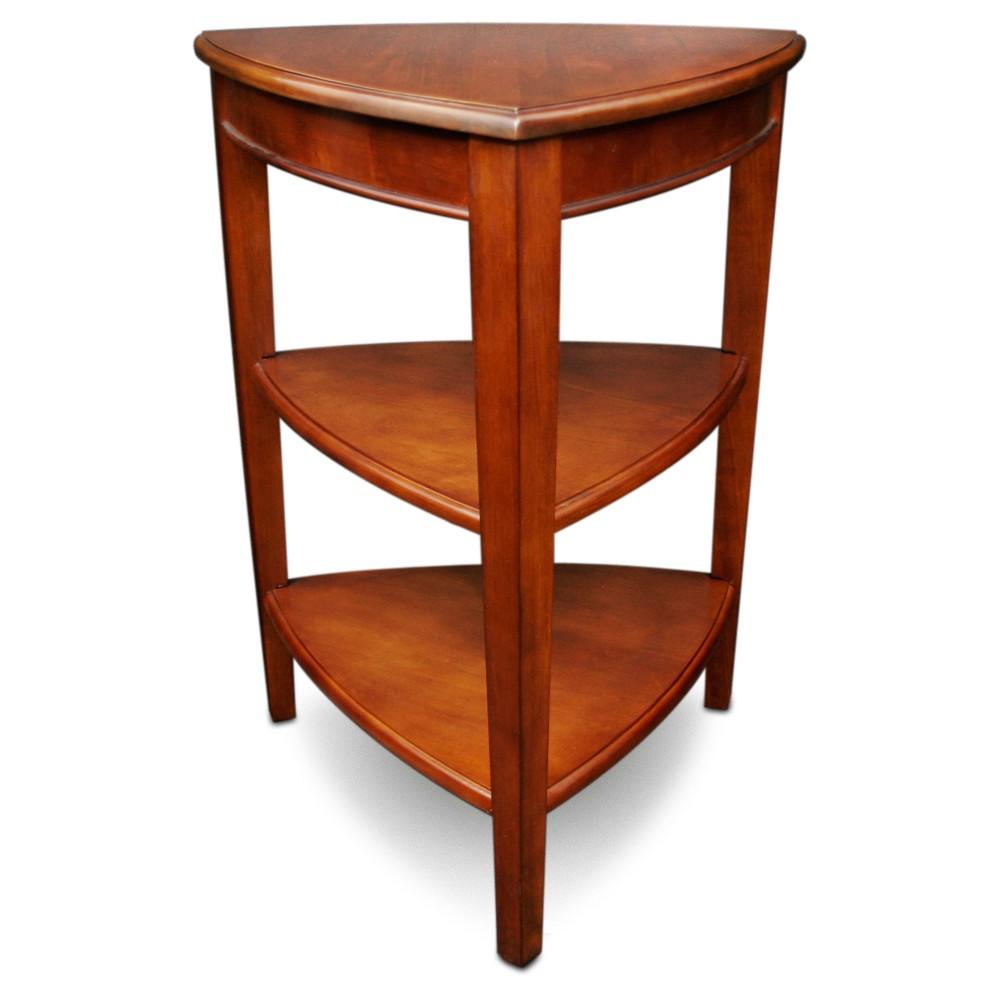 shield tier corner table glazed auburn leick furniture accent mid century butterfly glass patio ottawa skinny wine rack sage green kitchen outdoor bench seats bunnings home goods