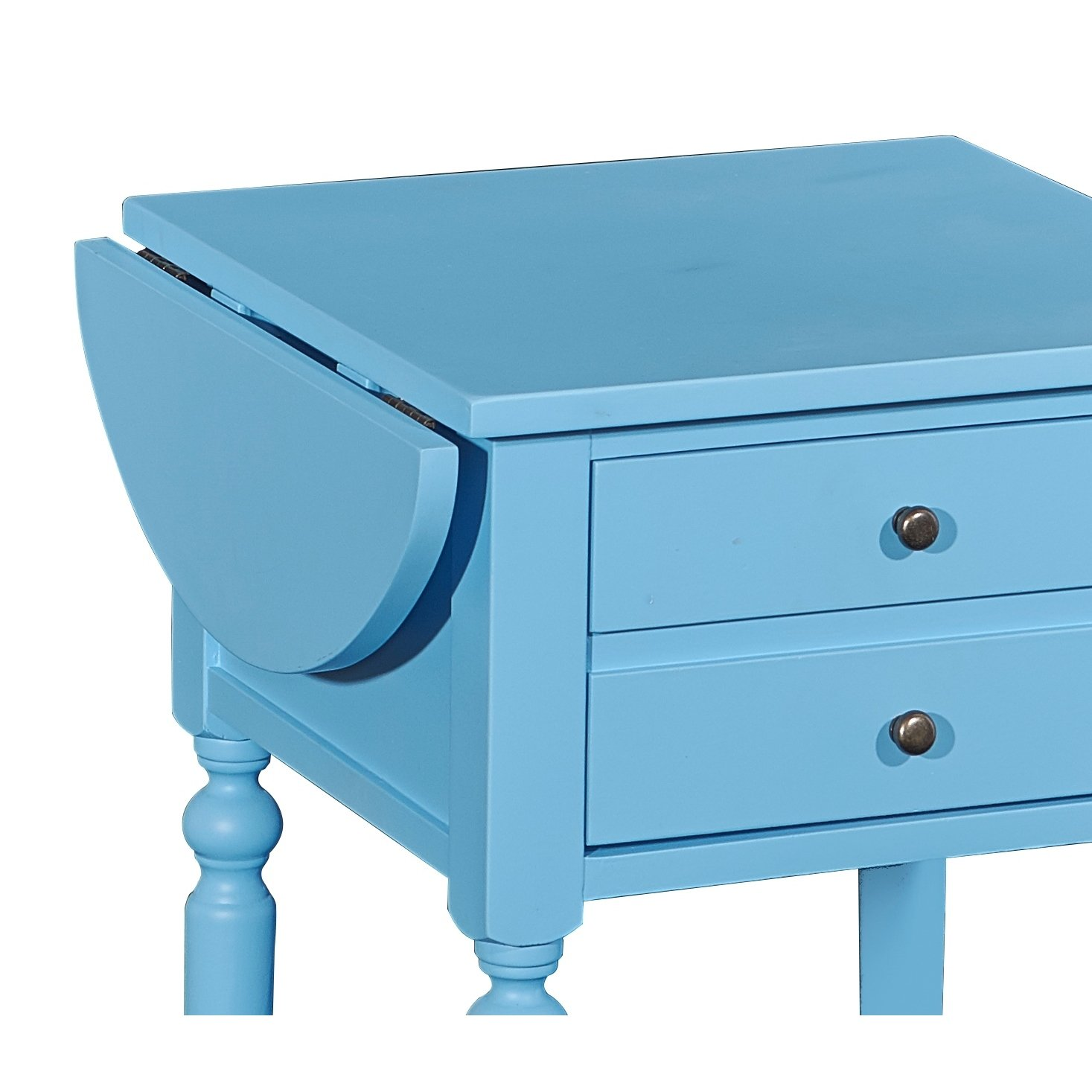 shiloh ocean blue accent table with dropleaf free shipping today drop leaf nautical desk tiffany lamp shade replacement ikea living room cabinets gaming dock modern marble coffee