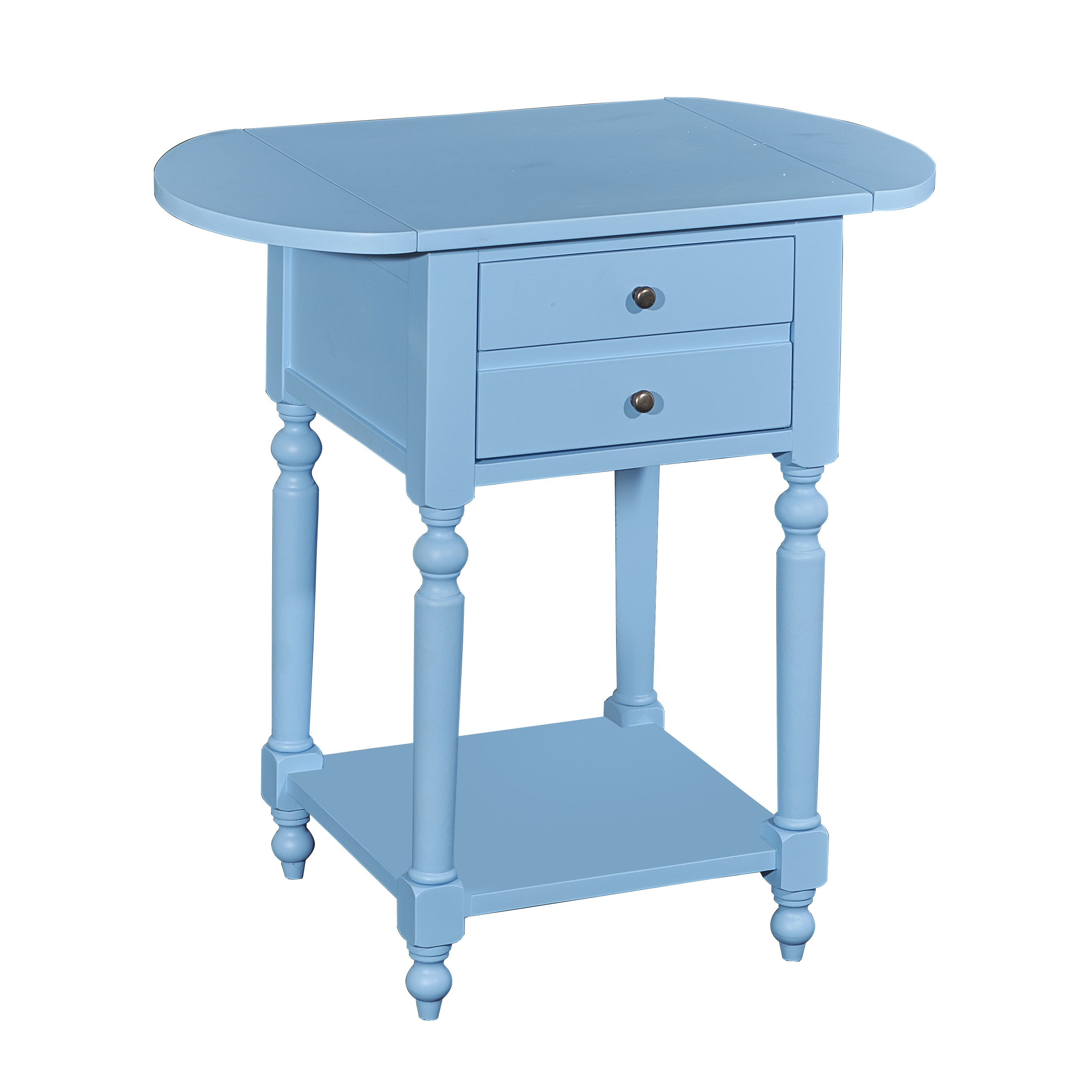 shiloh ocean blue accent table with dropleaf free shipping today teal small designer coffee tables target lounge chairs white drop leaf demilune console bronze glass hammered