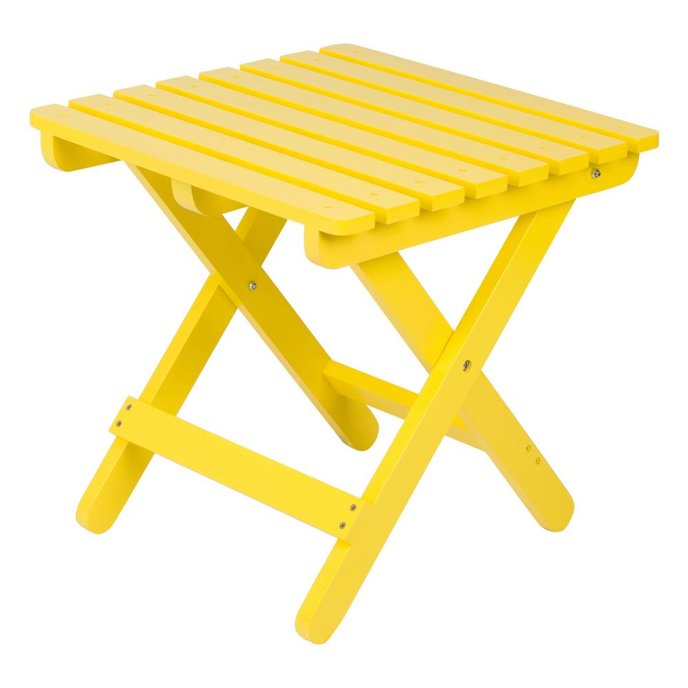 shine company adirondack lemon yellow square wood folding table outdoor side tables antique tall hobby lobby sofa floor standing mirror farmhouse seats battery powered led lamp