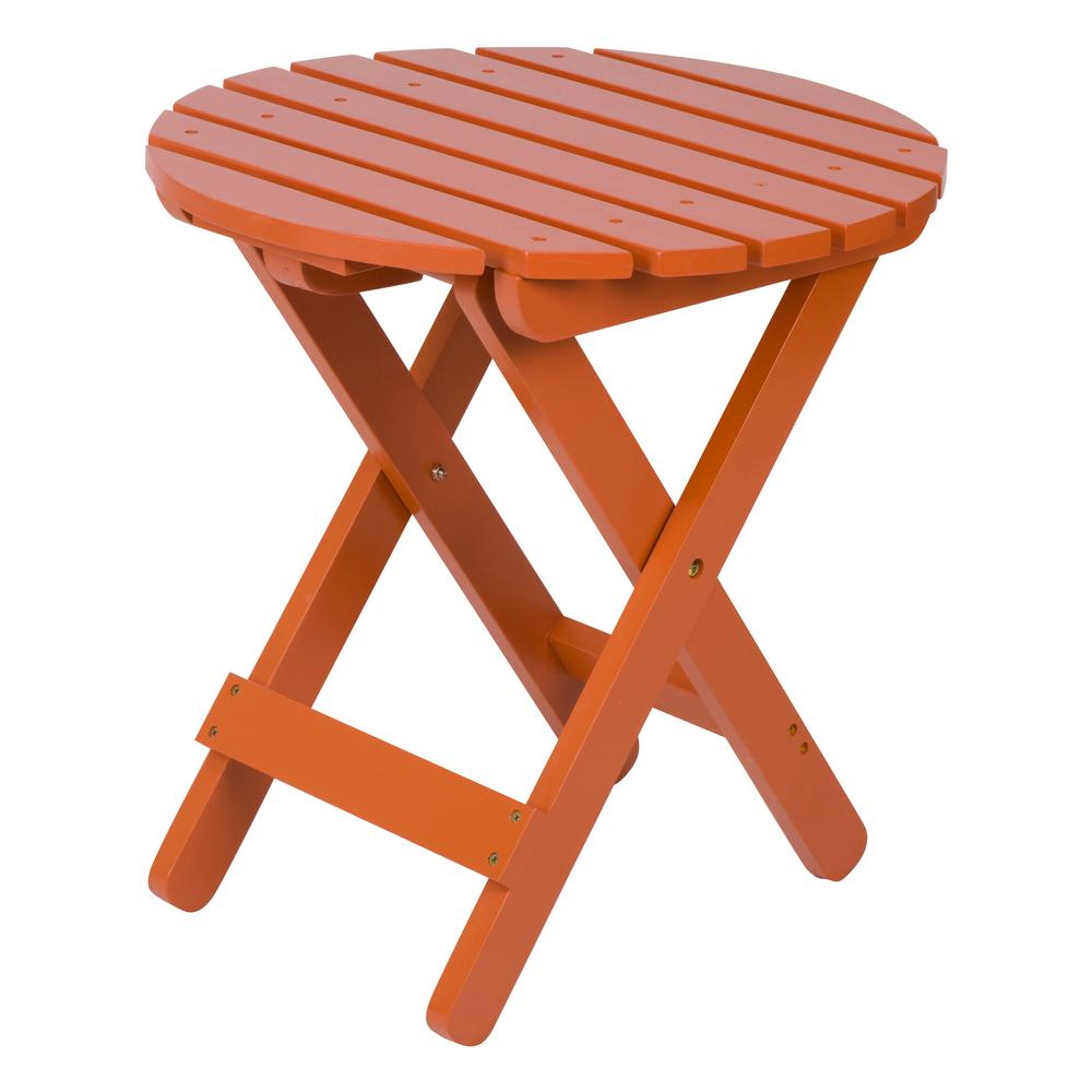 shine company rust adirondack round folding outdoor side table tables orange grey marble dining accent desk lamps ikea wood for small spaces crib furniture sets corner pieces