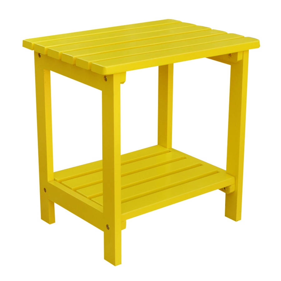 shine lemon yellow cedarwood rectangular side table the classy home shn white outdoor accent porch furniture small patio with umbrella chairs for balcony battery desk light oval