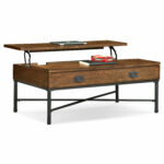 shipyard lift top cocktail table nutmeg value city furniture and coffee end sets click change plans free vintage marble dark cherry accent tables file cabinet dimensions art van 150x150