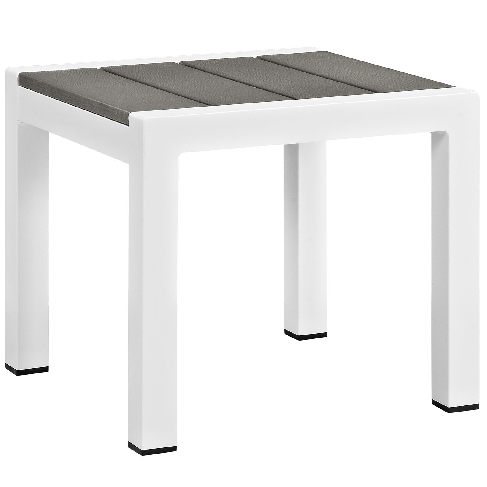 shore outdoor patio aluminum side table eei whi gry folding target maple furniture iron frame queen white high gloss bunnings garden seat ikea storage drawers narrow small half