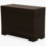 shoreline rattan southport wicker side table outdoor brown painted accent tables room essentials desk copper lamp ballard designs chair cushions modern with drawer nautical 150x150
