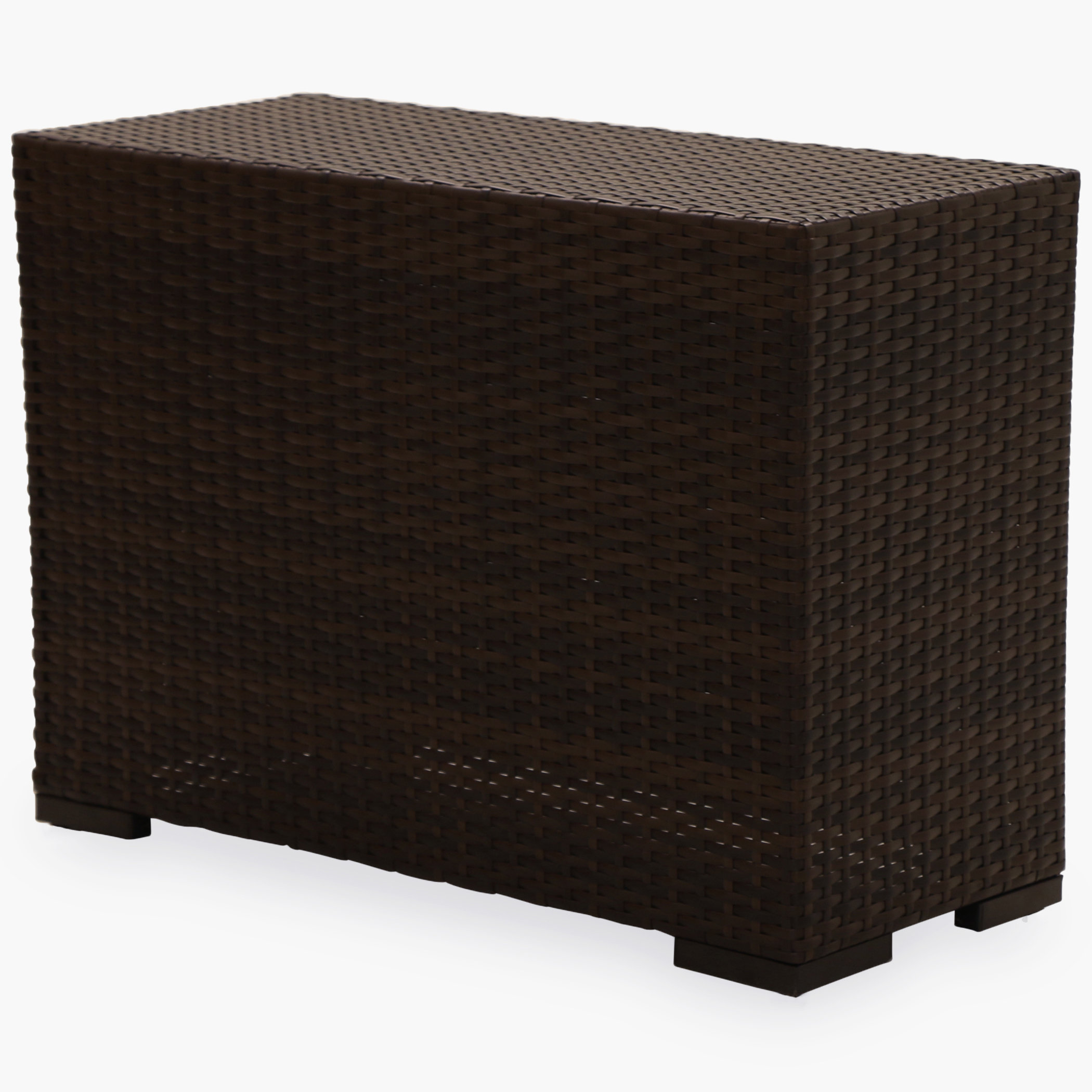 shoreline rattan southport wicker side table outdoor brown painted accent tables room essentials desk copper lamp ballard designs chair cushions modern with drawer nautical