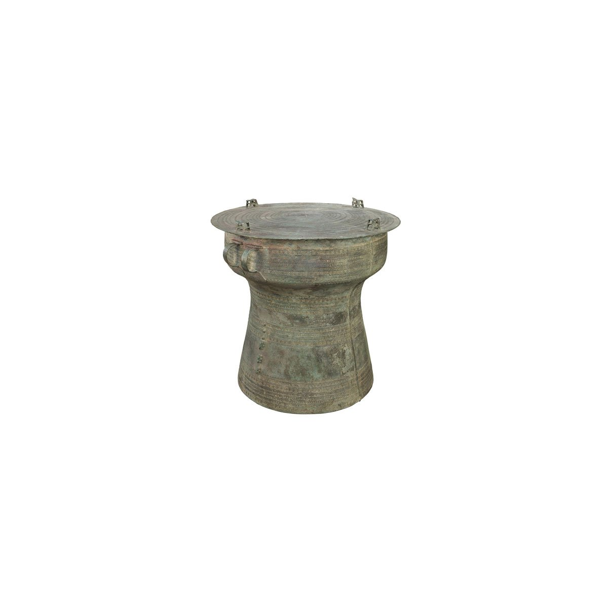 short rain drum antique replica solid bronze pottery barn frog accent table raindrums indoor decor inspiring seats and coffee tables brass finish wicker sofa glass center with