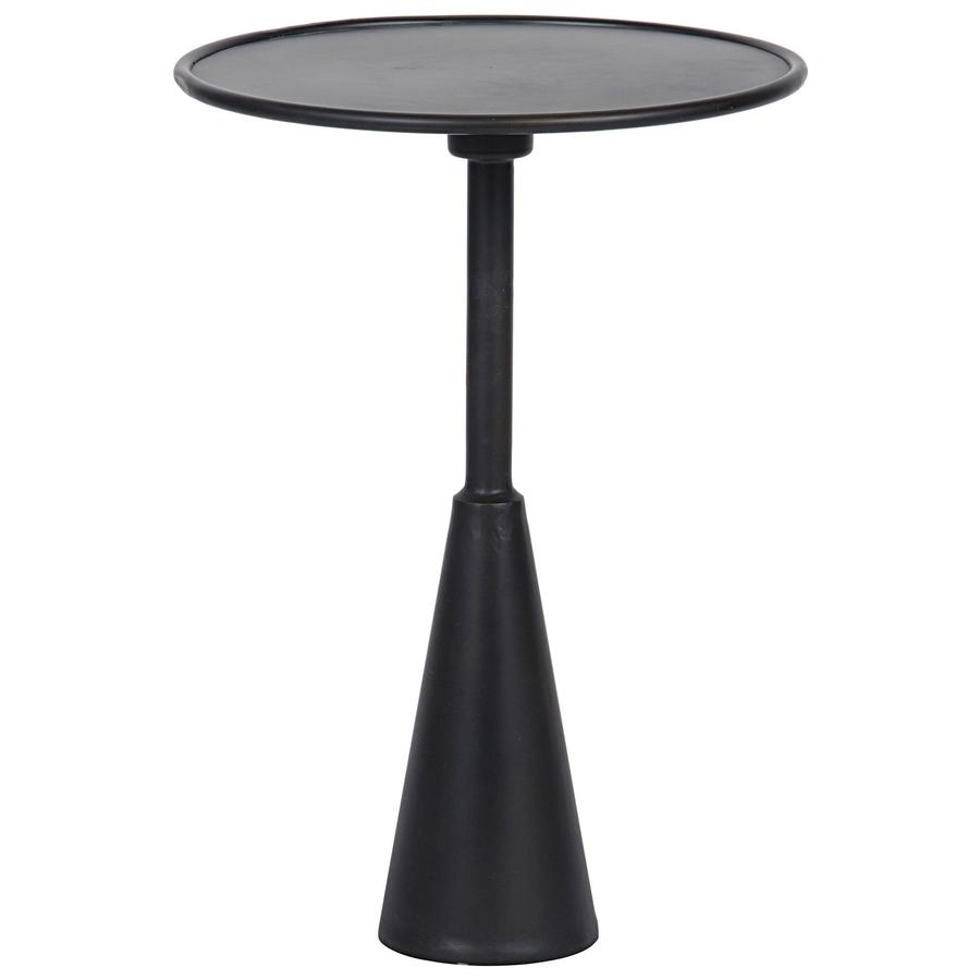 side end accent tables bliss home design boir hiro table metal low round with conical base simple rod stand rimmed top barbecue tray dining room decor kids piece glass coffee set