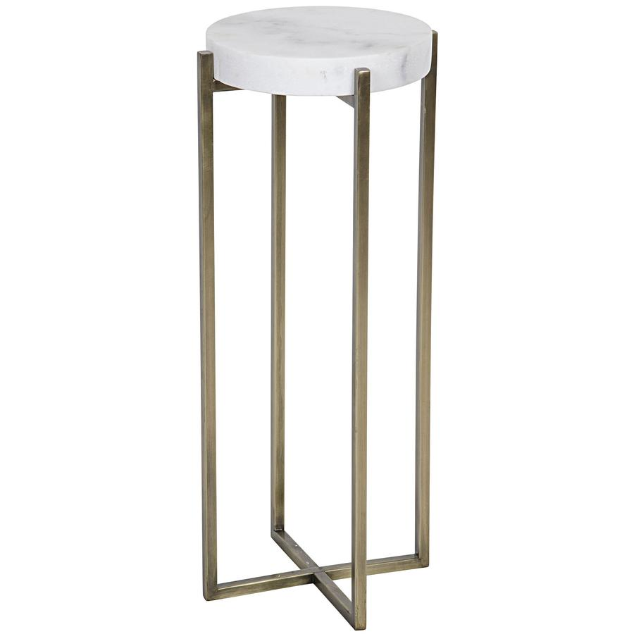 side end accent tables bliss home design boir table antique brass metal and quartz mirrored round topped with white light colored veining sleek pottery barn swivel chair dining