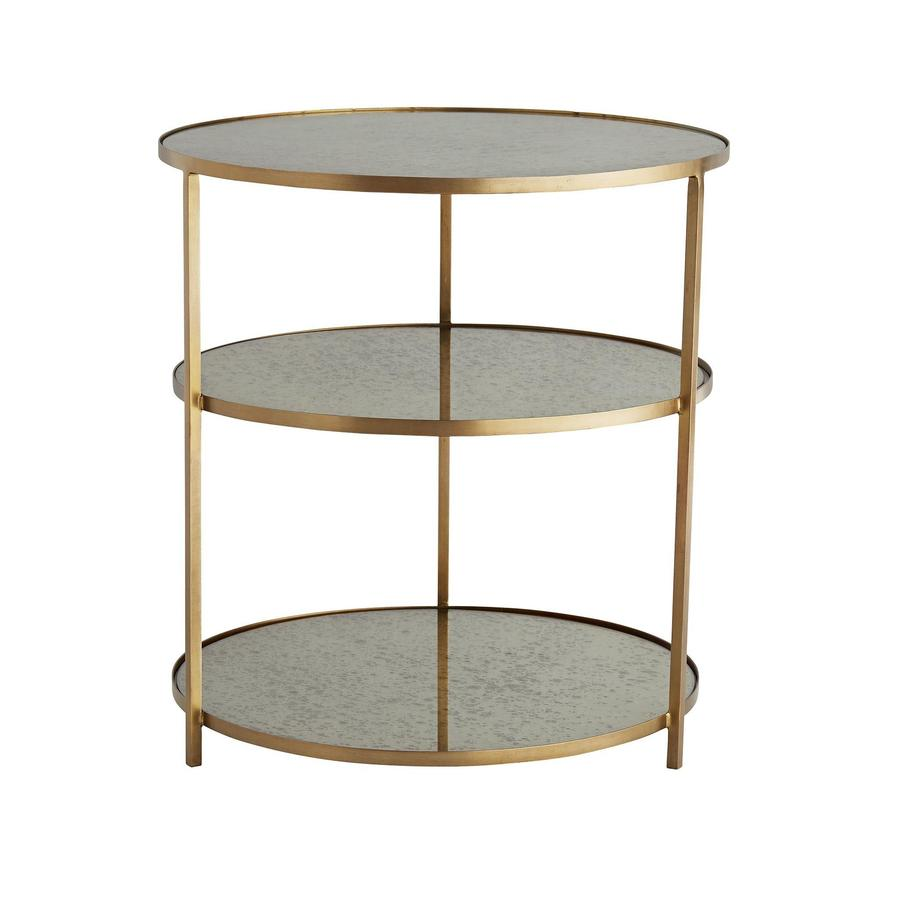 side end accent tables bliss home design brte percy iron mirrored table glass with drawer round three tiered antique brass finish and inlaid antiqued mirror top farmhouse dining