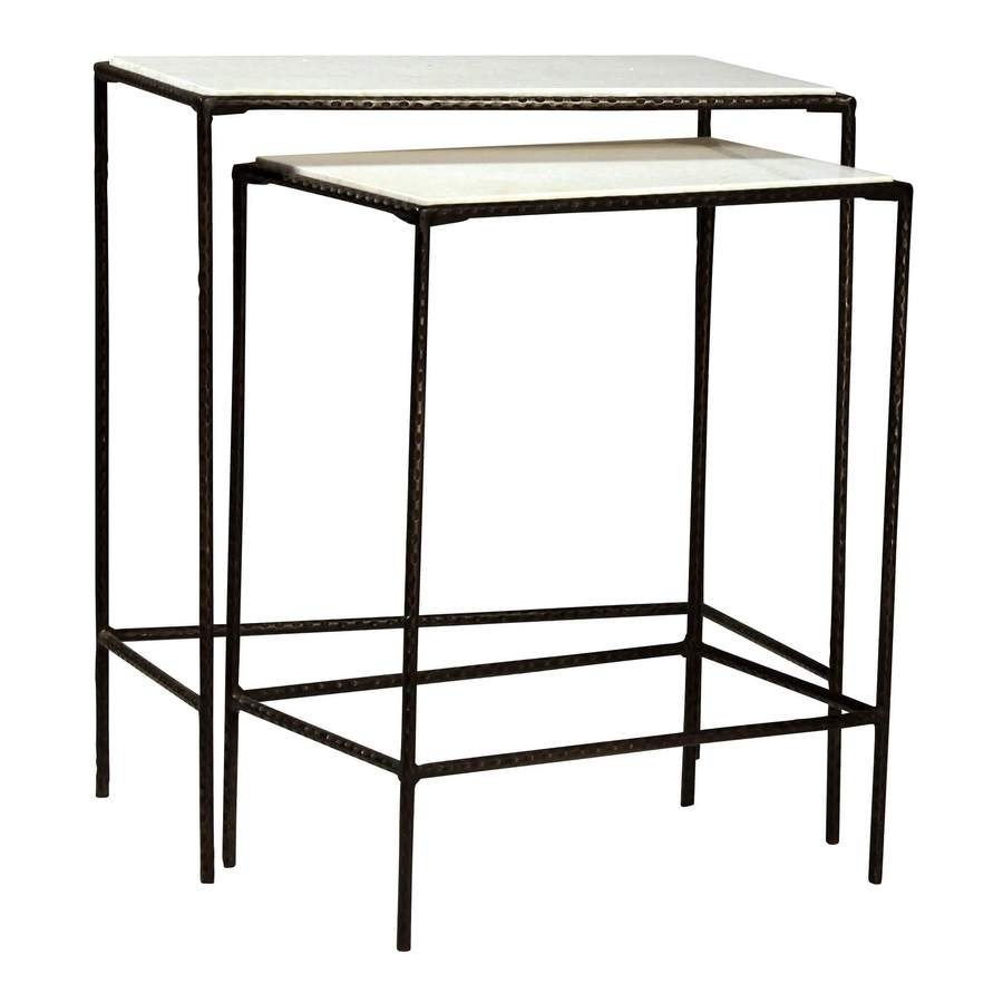side end accent tables bliss home design ecdt miro nest hammered metal table two nesting with hand iron rod frame finished blackened steel polished changing mattress round rugs