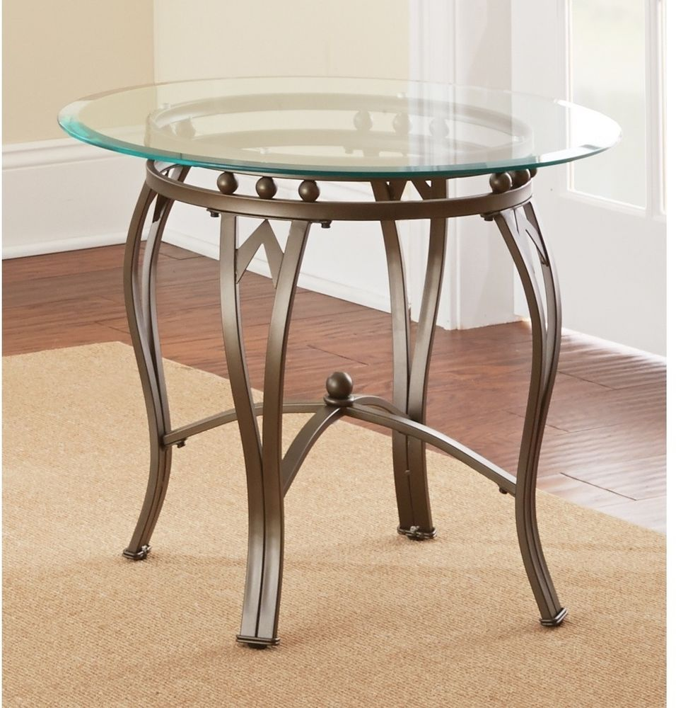 side end table glass top round contemporary metal durable living accent room furniture greysonliving contemporarymoderntransitionalurban square dining wine shelf white patio ideas