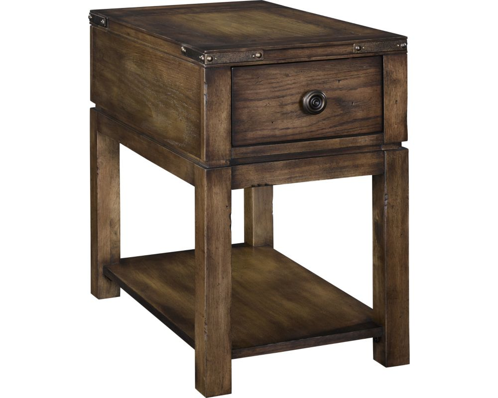 side end tables accent broyhill furniture with charging station pike place chairside table round cloth vintage french bedside cream and wood coffee wide nightstand bar height