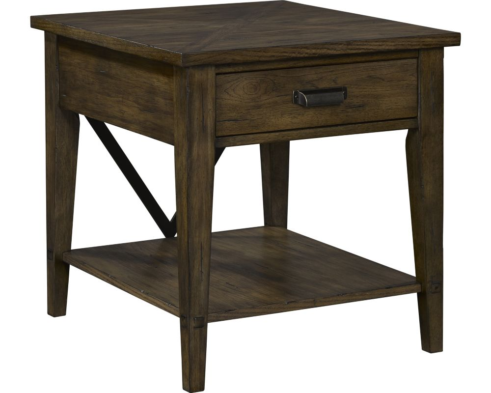 side end tables accent broyhill furniture wooden display table creedmoor drawer brushed nickel lamps outside patio chairs nautical chandelier light fixtures rustic grey coastal