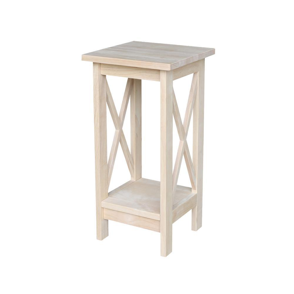 side plant stand free shipping unfinishedfurnitureexpo unfinished international concepts indoor stands accent table hardwood wine cabinet foyer with storage corner chair college