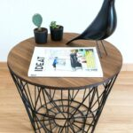 side table basket living wire wicker bedside tables with storage extra large wooden dog crate black metal outdoor diy pallet end plans round accent ashley furniture norcastle all 150x150