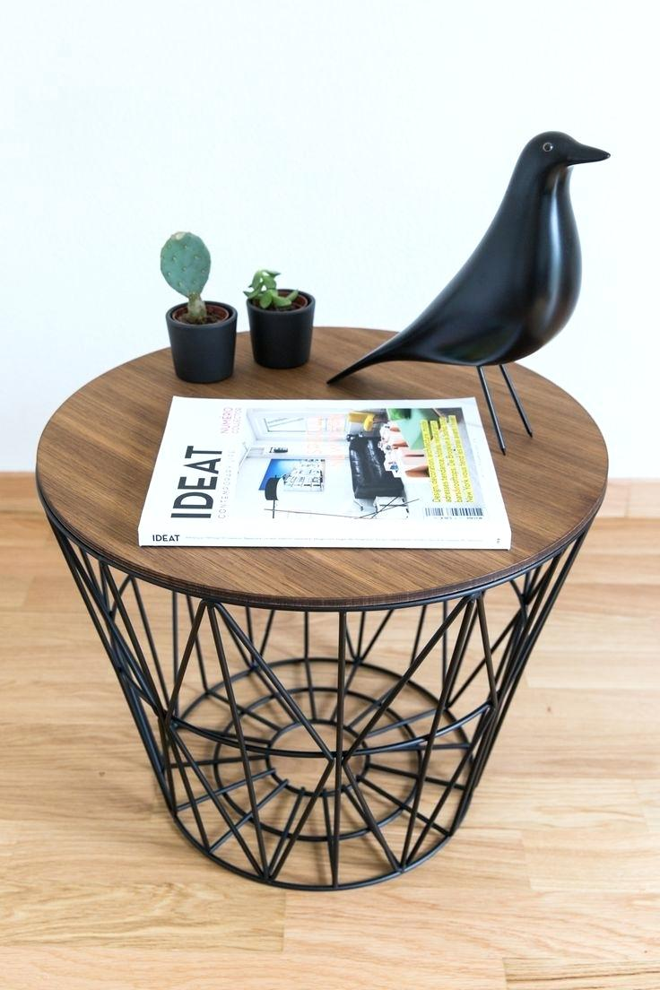 side table basket living wire wicker bedside tables with storage extra large wooden dog crate black metal outdoor diy pallet end plans round accent ashley furniture norcastle all