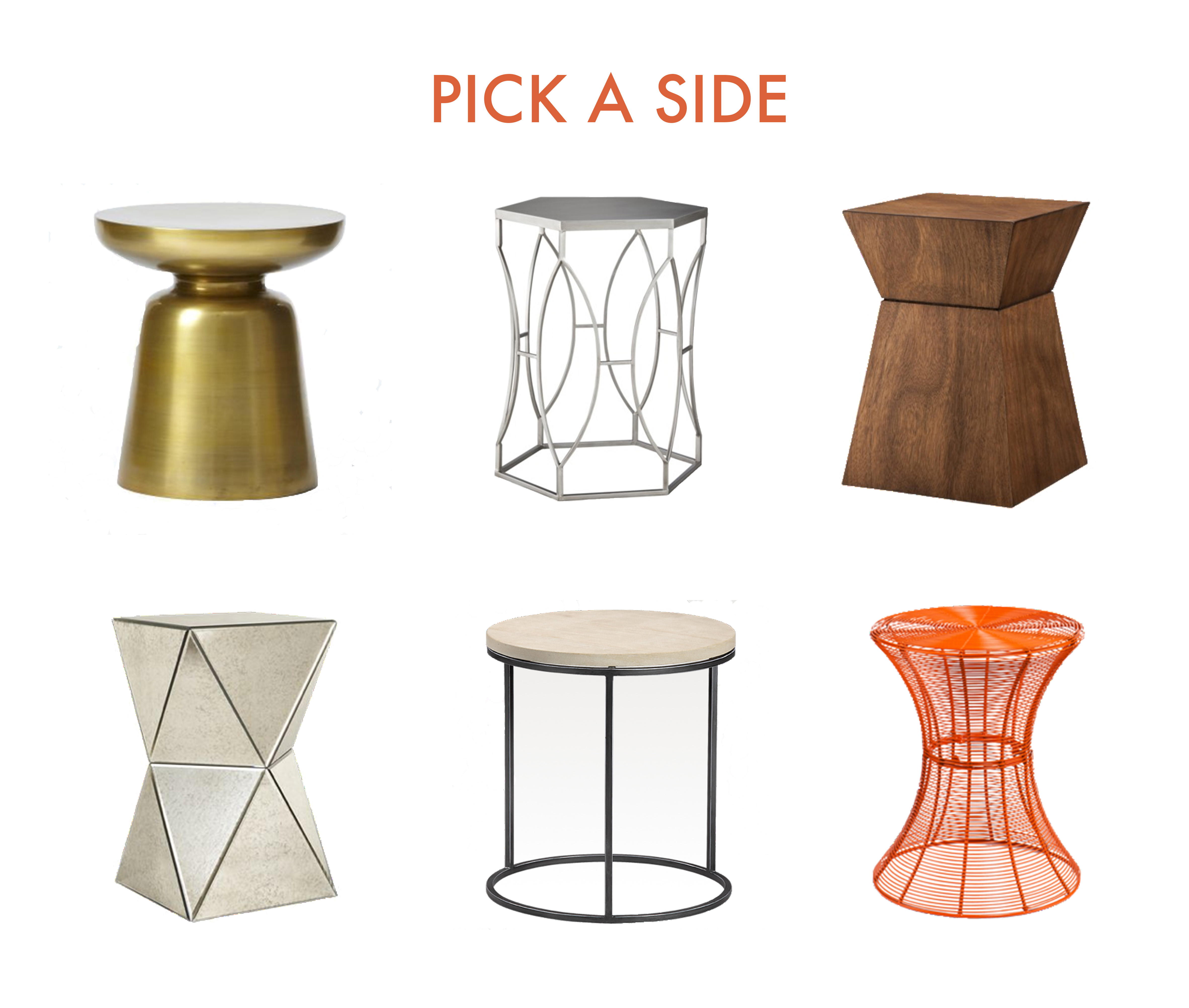 side table for every occasion scout and arrow sidetables target accent marble top clockwise from martini small round patio with umbrella hole west elm mid century folding
