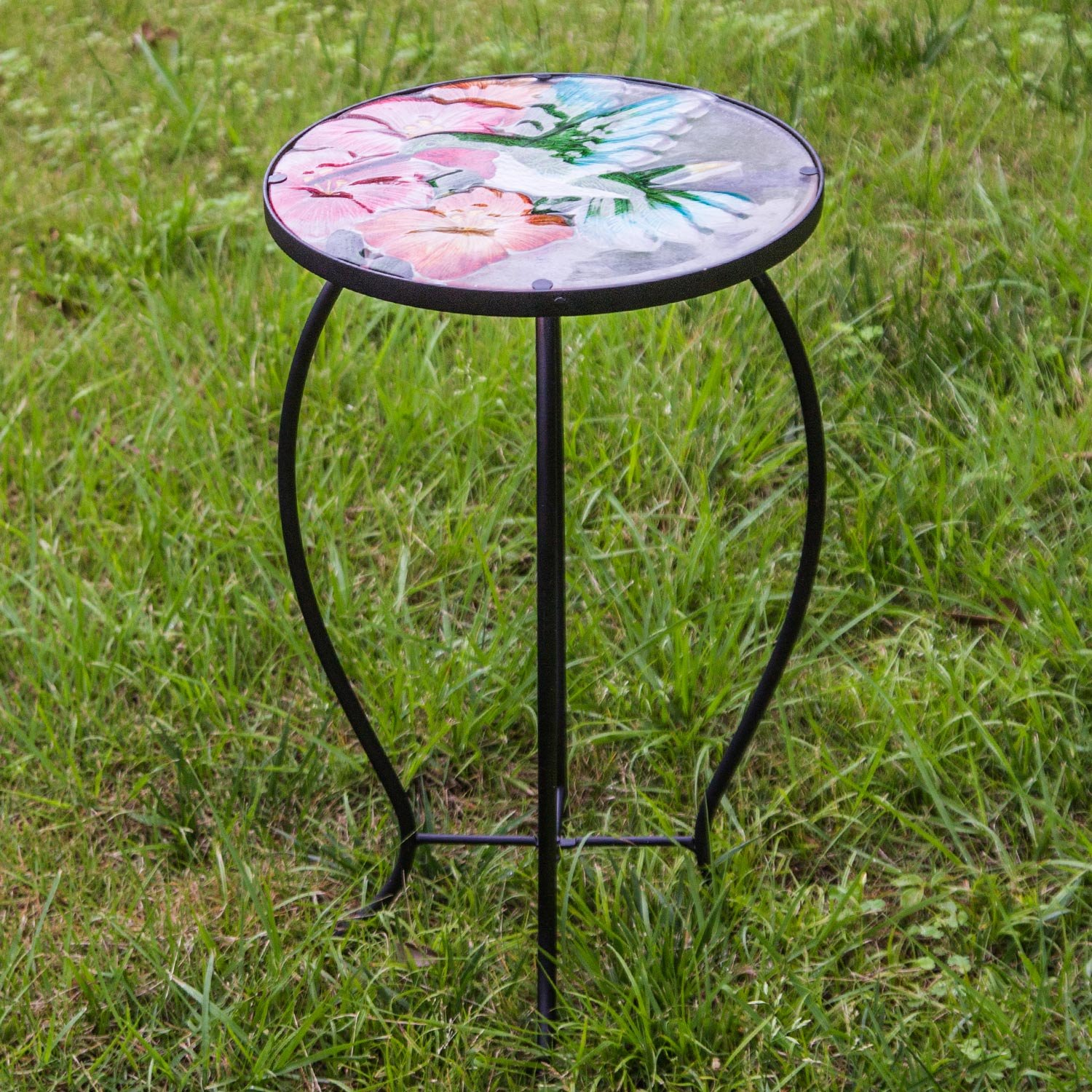 side table outdoor garden metal accent desk round hand painted glass console with shelves lobby furniture top patio coffee pottery barn square corner end storage bar height dining