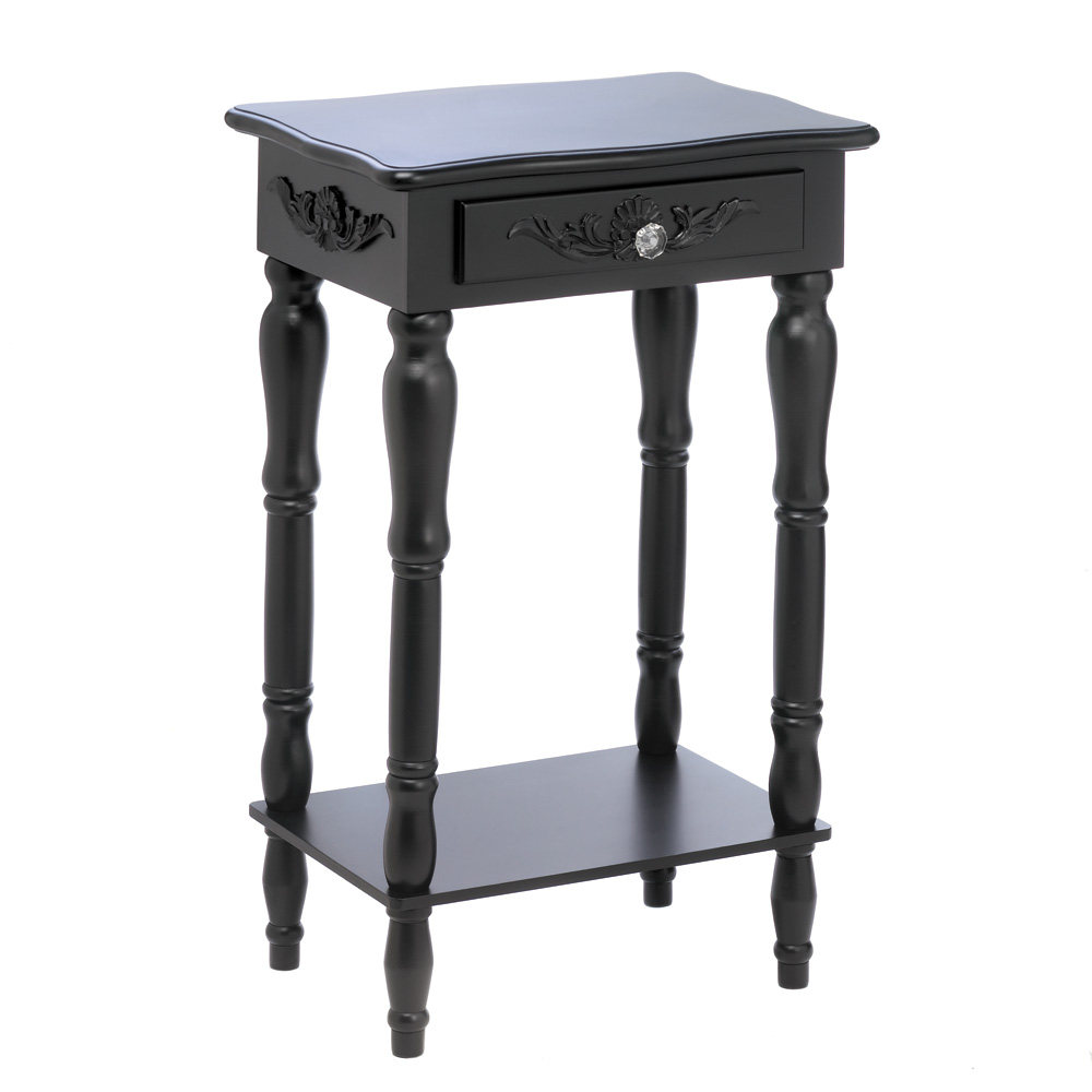 side table pine and mdf wood black with drawer for accent tables white living dale tiffany crystal lamps inch square vinyl tablecloth usb room furniture ideas small foyer metal