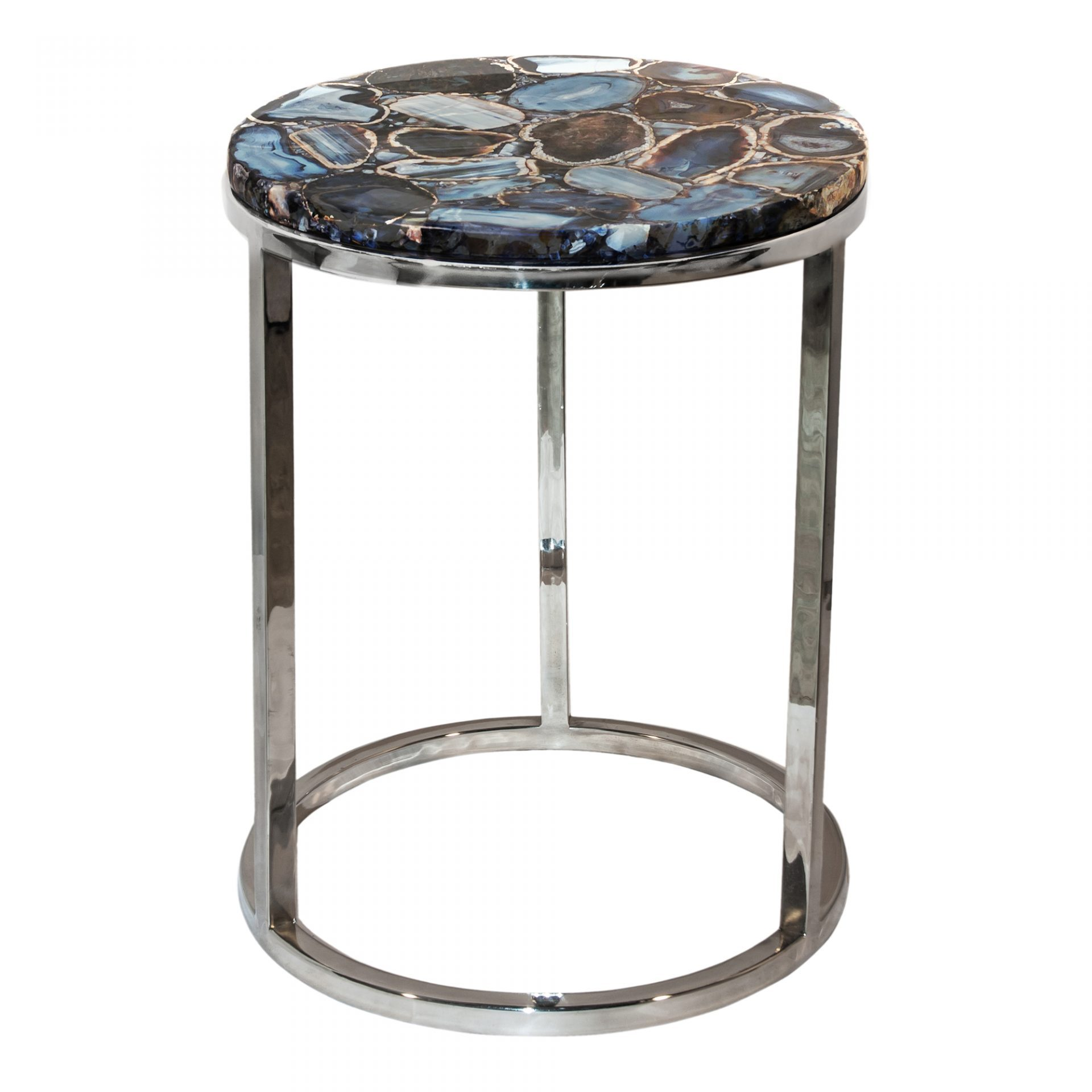 side table plus modern design round aluminum accent agate vintage metal legs piece and chairs home goods dining room sets antique marble top transparent cover janika end small