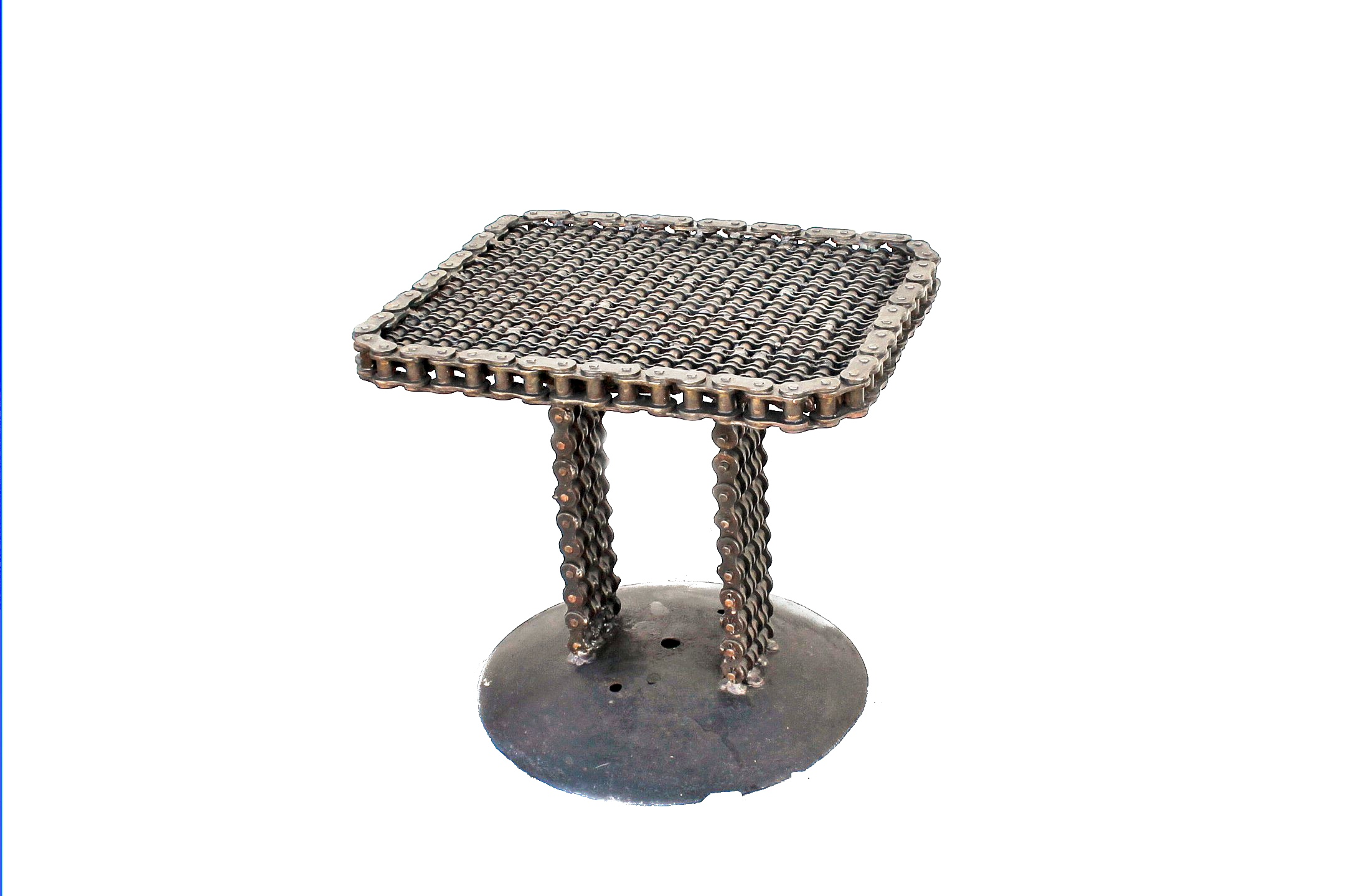 side table raymond guest recycled salvage design img upcycled accent industrial chain end made gear black plastic unique patio furniture marble with chairs console sliding barn