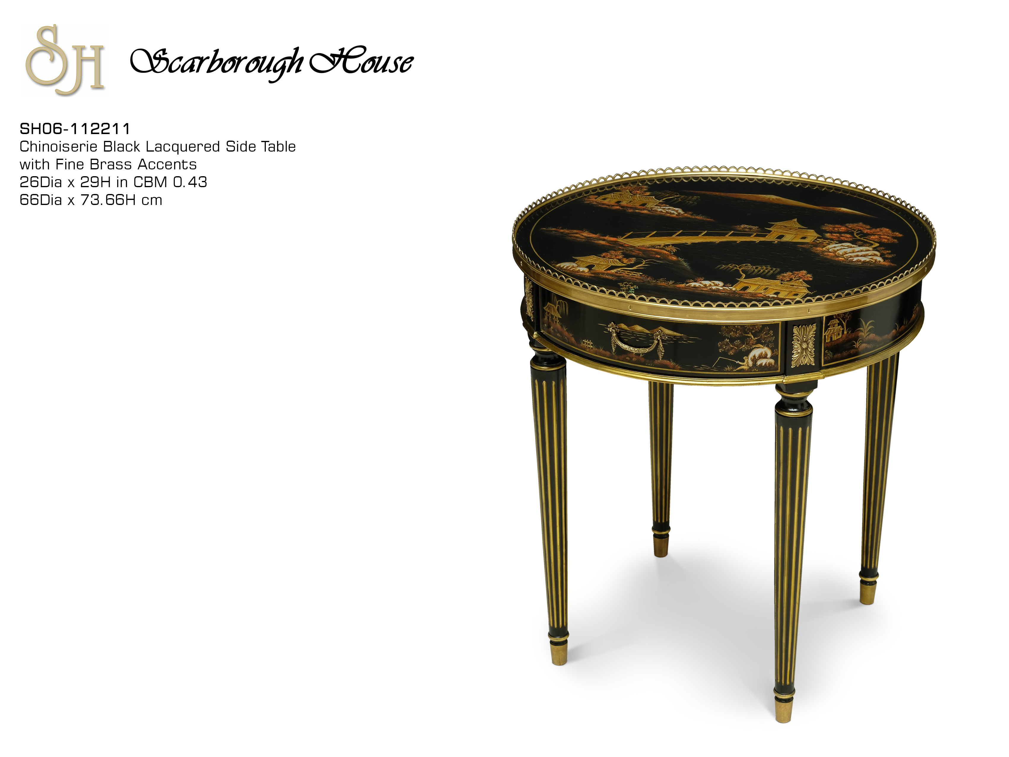 side table scarborough house black lacquer accent click here for printable dining behind couch storage chest iron truck tool box counter height island pottery barn living room