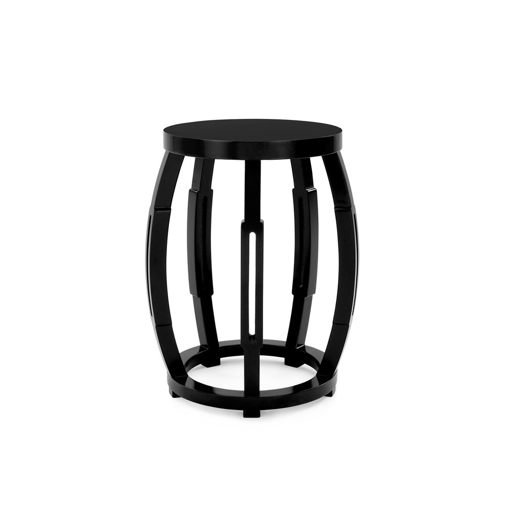 side tables casa toronto tab drum shaped accent table taboret stool this cylinder has five convex ribs with bathroom runner target yellow bbq round dining room and chairs black