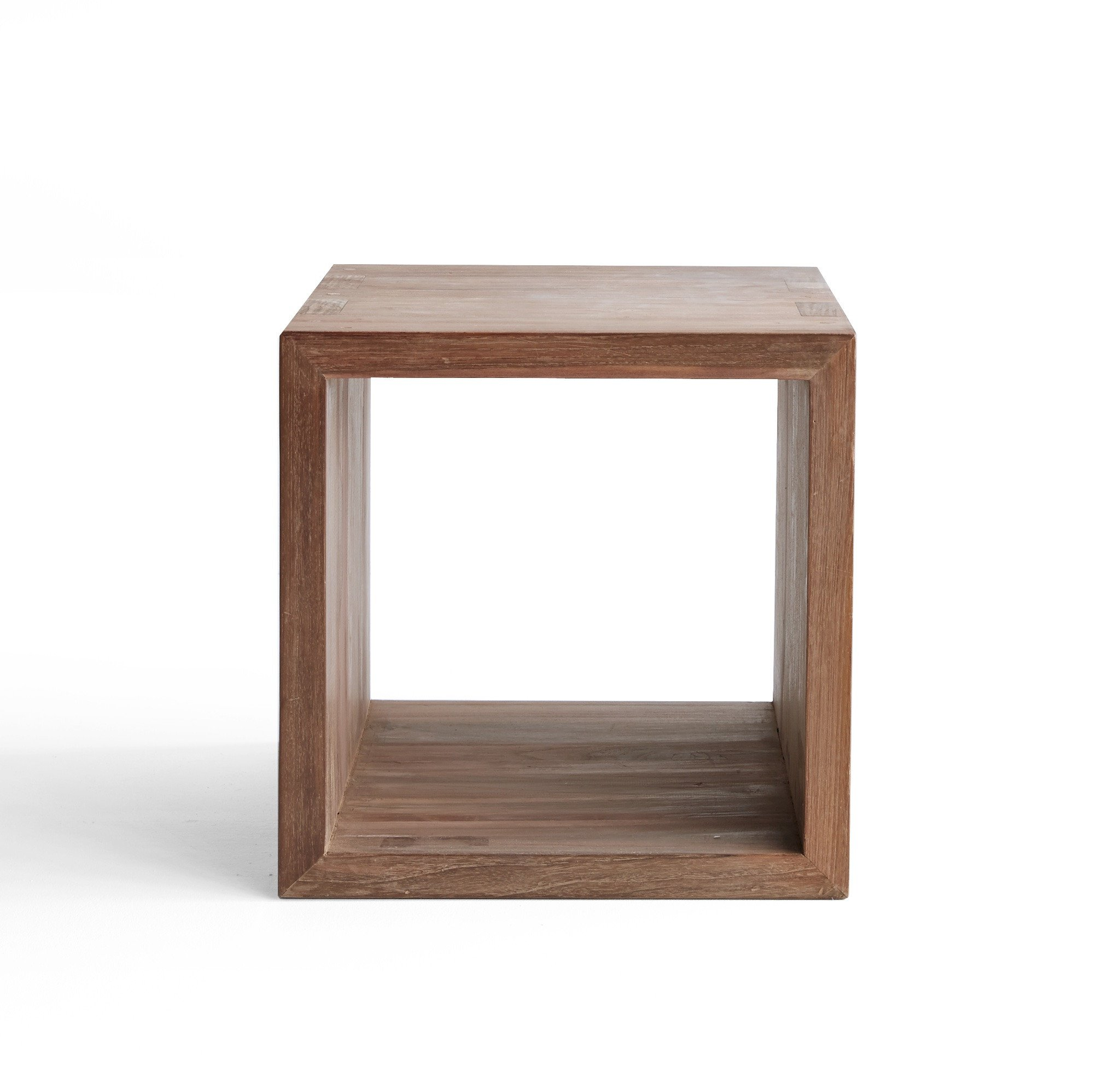 side tables living room furniture originals closed cube table wood accent kubus teak sidetable ethnicraft piece set narrow oak console silver mirrored bedside concrete garden grey