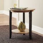 side tables supply usafurnishingsdepot brandt accent table ottawa brown gray modern metal and glass coffee round wood dresser trunk chest pottery barn living room chairs butterfly 150x150