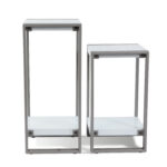 side tables with shelf modern large small accent table white top black frame silver lamps for bedroom decorative chests cabinets and chairs hairpin leg chair italian coffee chalk 150x150