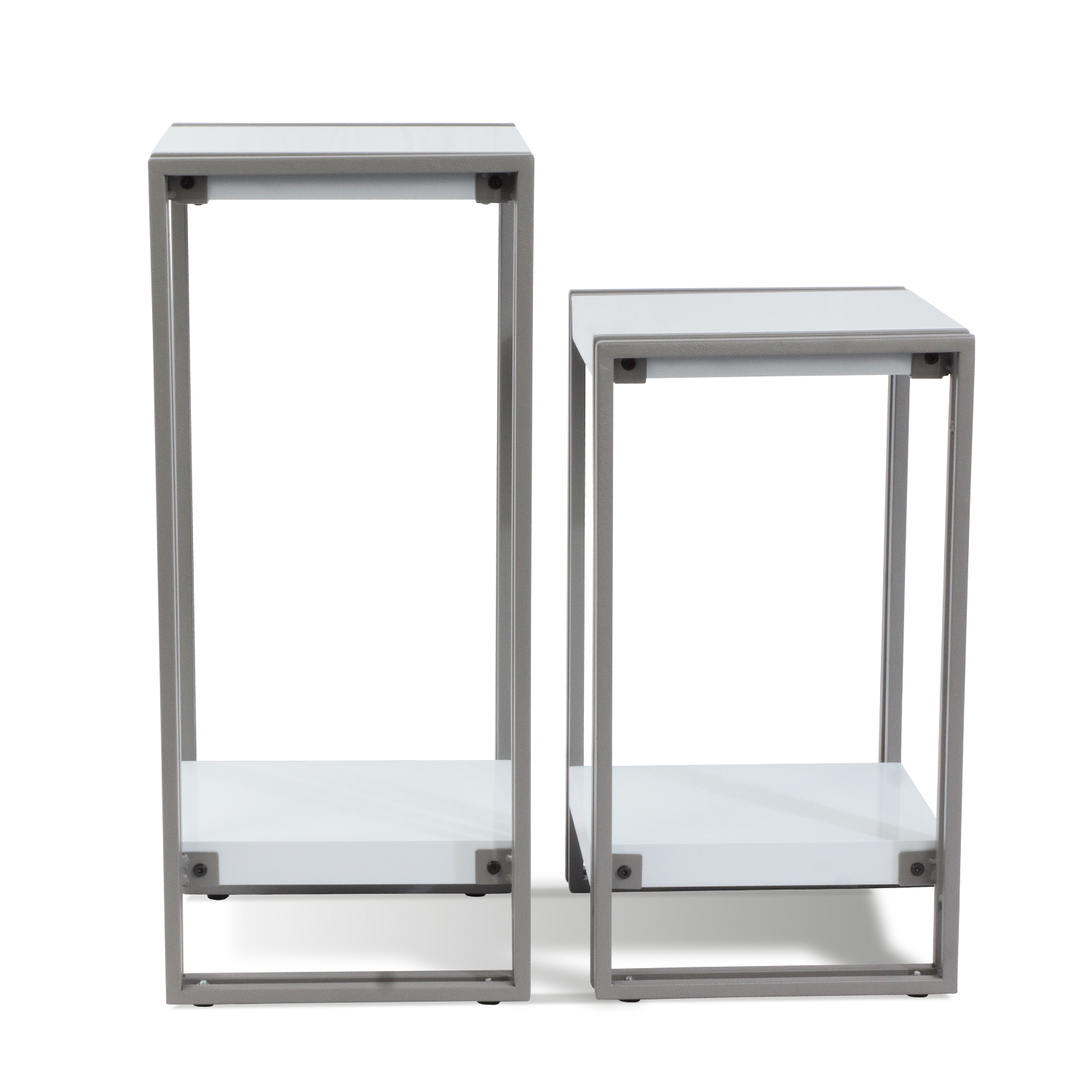side tables with shelf modern large small accent table white top black frame silver lamps for bedroom decorative chests cabinets and chairs hairpin leg chair italian coffee chalk