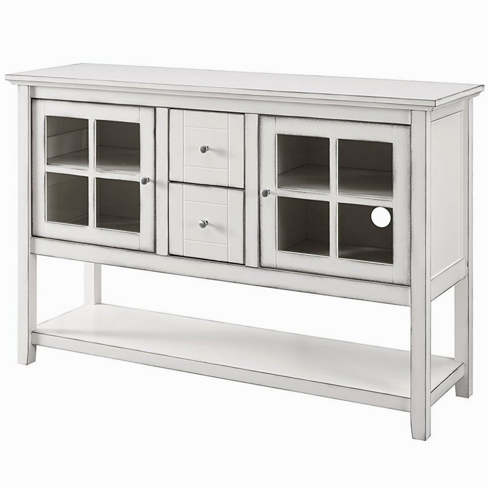 sideboard buffet cabinet glass doors foyer entry console accent table with storage and drawers stand server sturdy modern for hallway contemporary shaped outdoor furniture cover