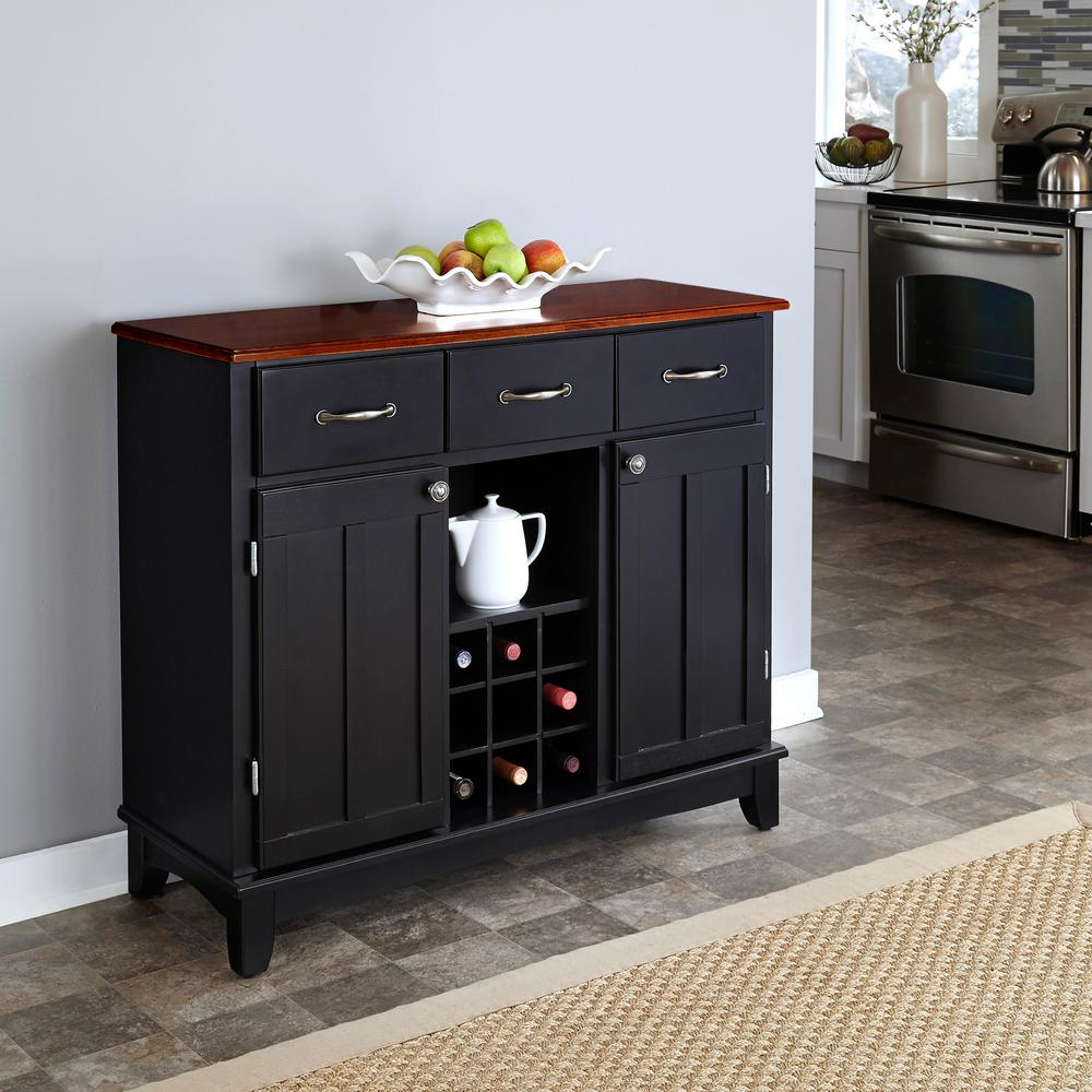 sideboards buffets kitchen dining room furniture the black cherry top home styles don mirrored accent table clear and buffet with wine storage round chair small tablecloth sizes