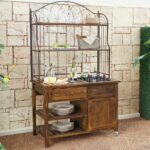 sideboards marvellous patio buffet cabinet ashley furniture outdoor sideboard table wrought iron and wooden hutch server with built wine freezer container gold bedroom accessories 150x150
