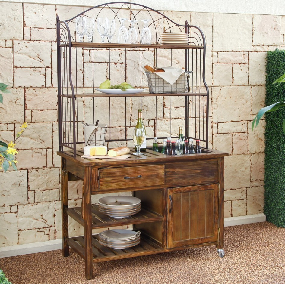 sideboards marvellous patio buffet cabinet ashley furniture outdoor sideboard table wrought iron and wooden hutch server with built wine freezer container gold bedroom accessories