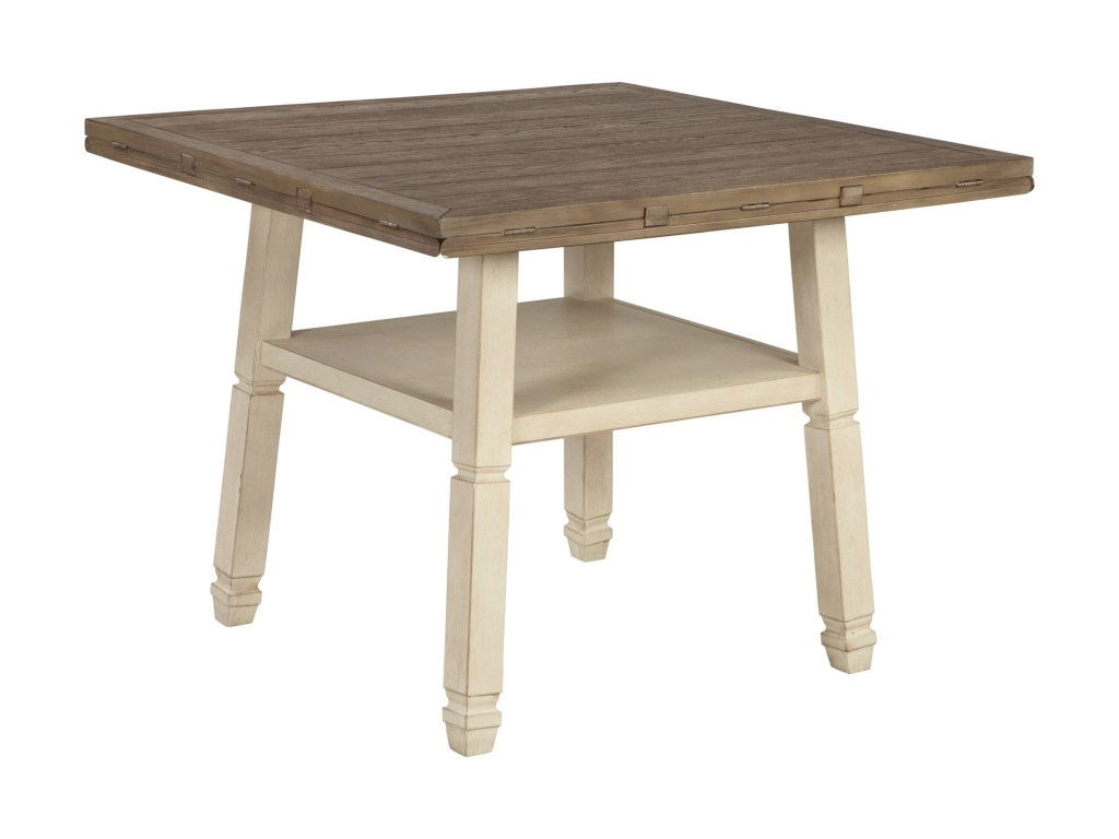 signature design ashley bolanburg relaxed vintage piece square products color avenue six chair and accent table set round drop leaf counter corner end tables with drawers wicker