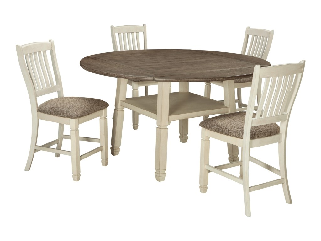 signature design ashley bolanburg relaxed vintage piece square products color avenue six chair and accent table set round drop leaf counter rectangle patio glass top dining bath